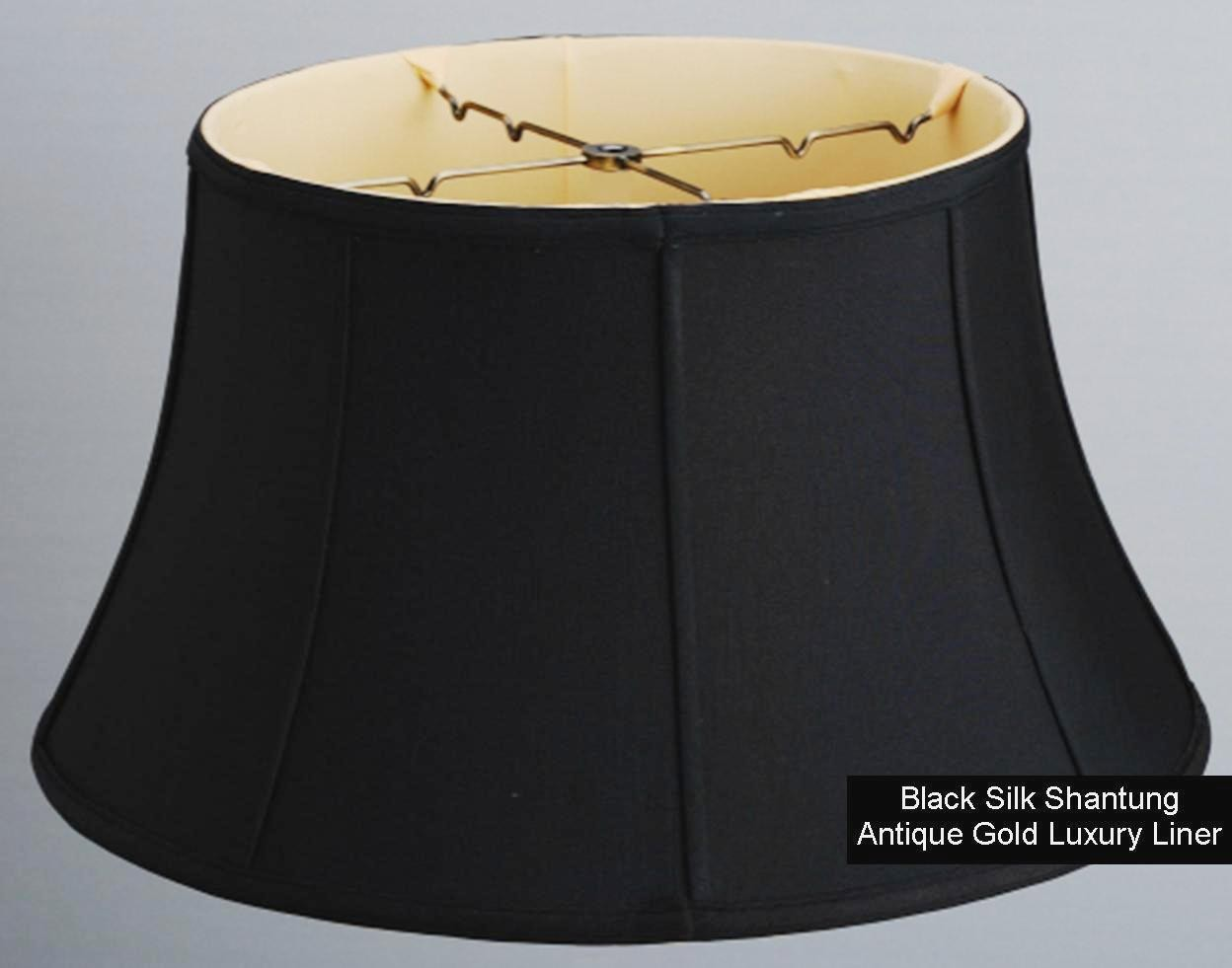 Black silk floor lamp shade lamp shade pro black silk floor lamp shade 17 19w aloadofball Choice Image