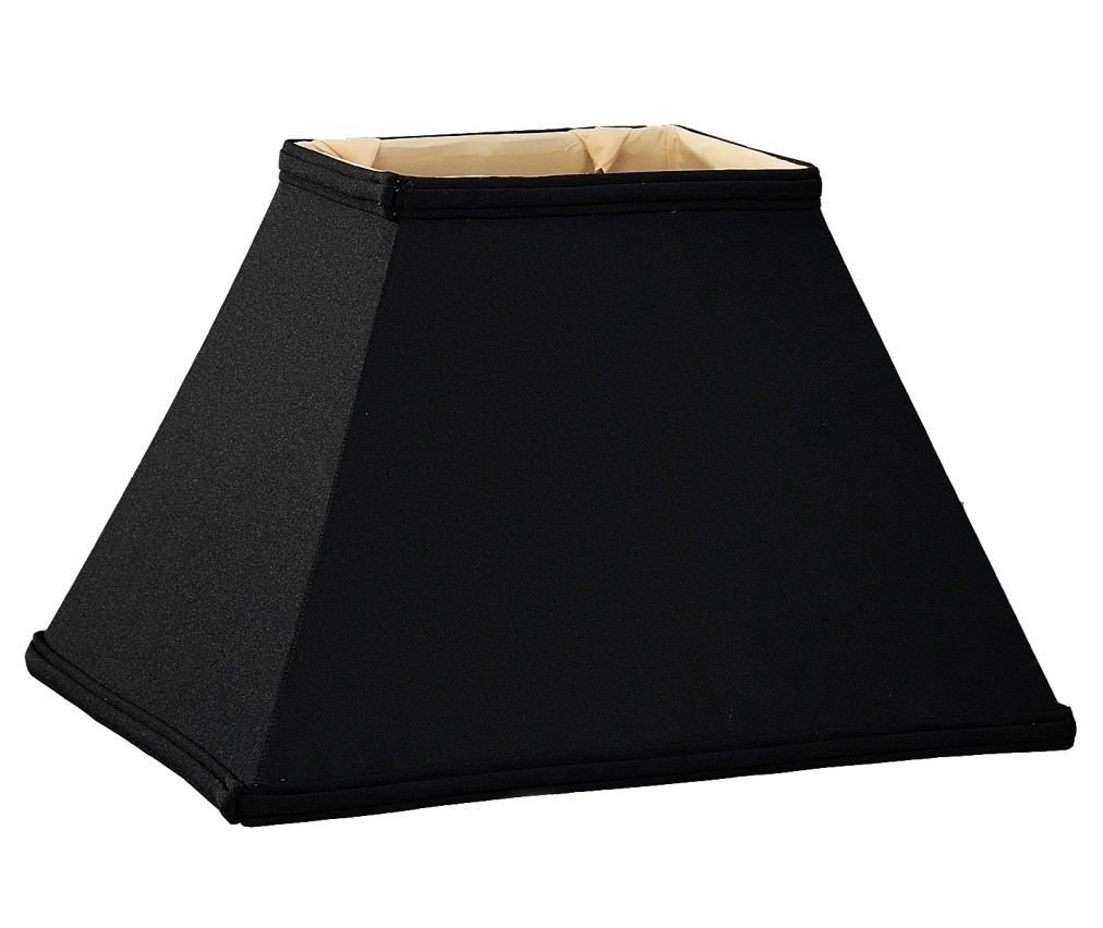 Black tapered silk rectangle lamp shade lamp shade pro black tapered rectangle lamp shade 12 18w aloadofball Choice Image