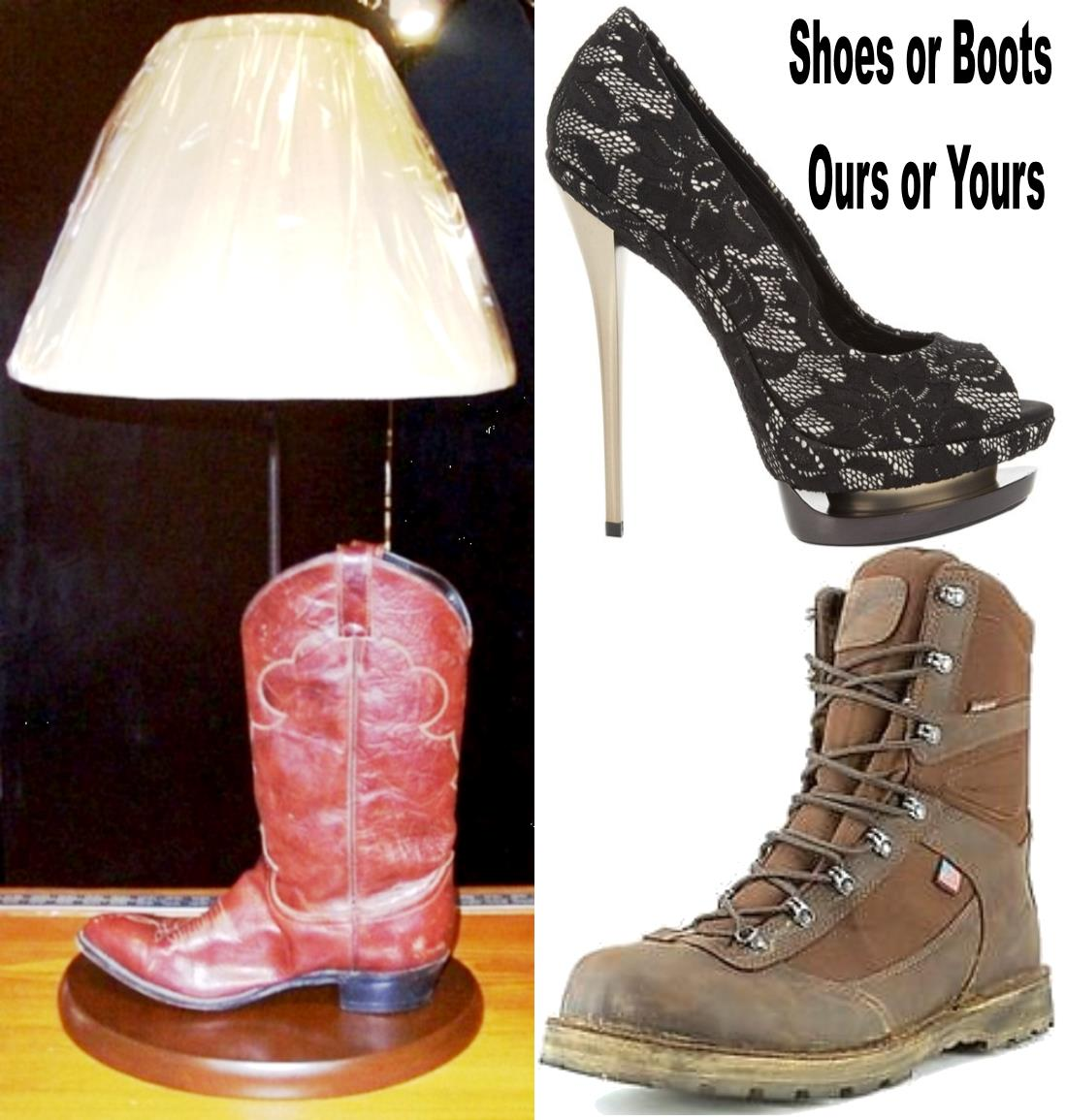 Boot or Shoe Lamp