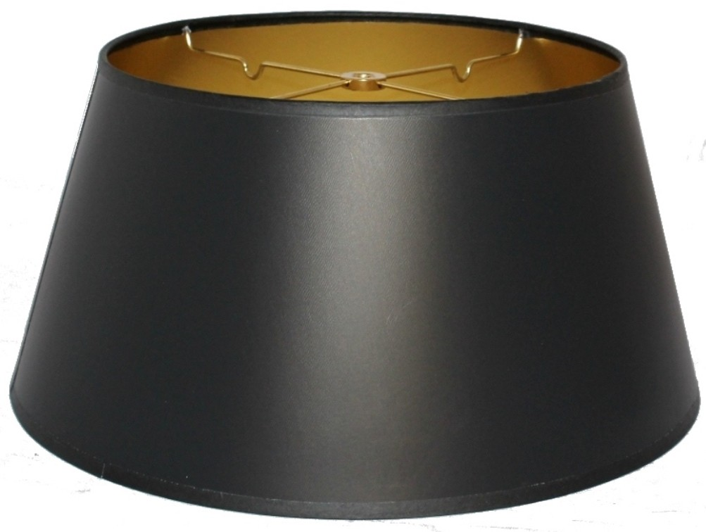"Bouillotte Black Paper Lamp Shade 14""W"