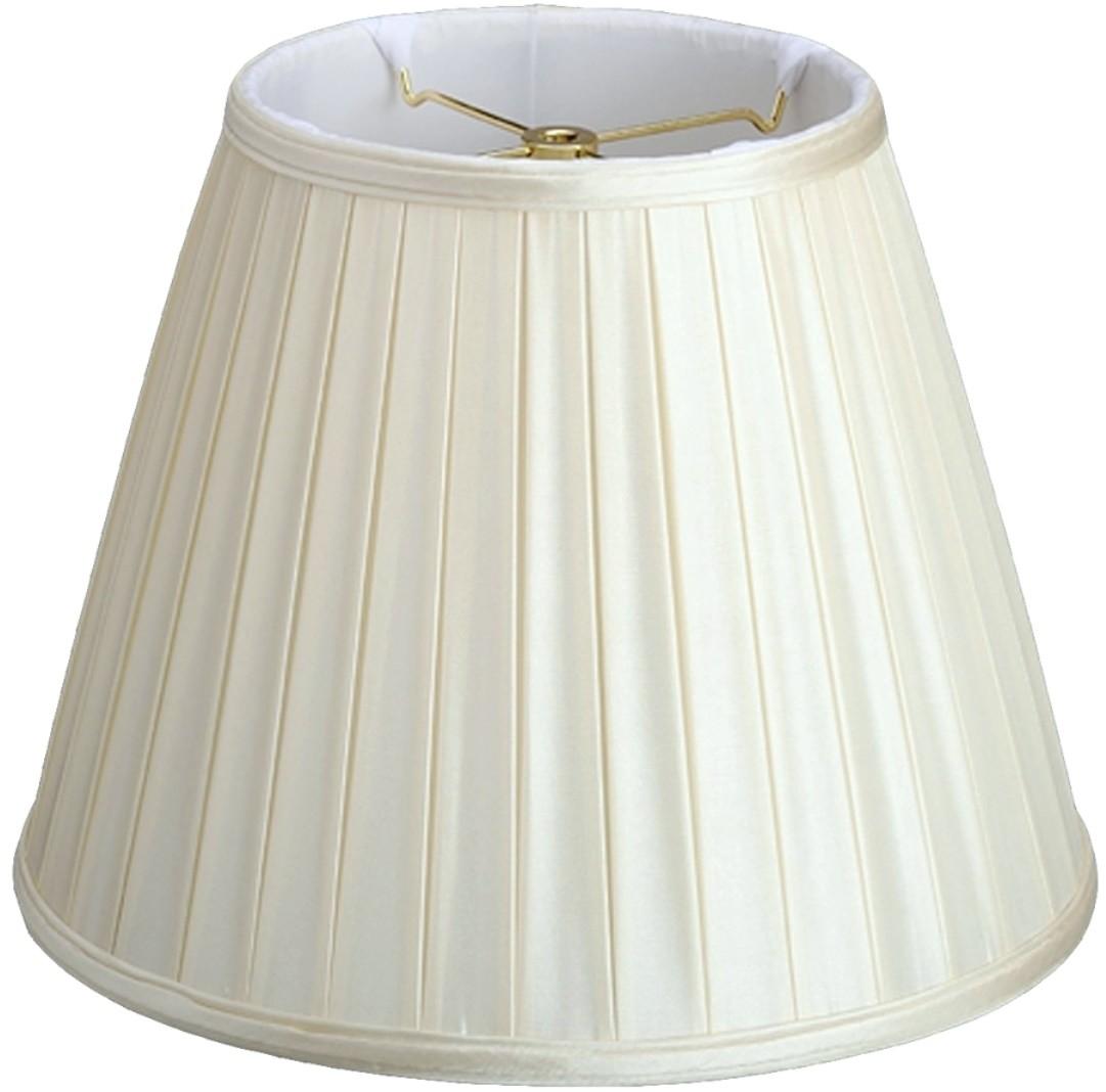 "Empire Box Pleated Lamp Shade Cream, White 8-18""W"
