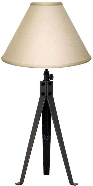 "Bronze Iron Tripod Table Lamp Adjustable 30-38""H - Sale !"