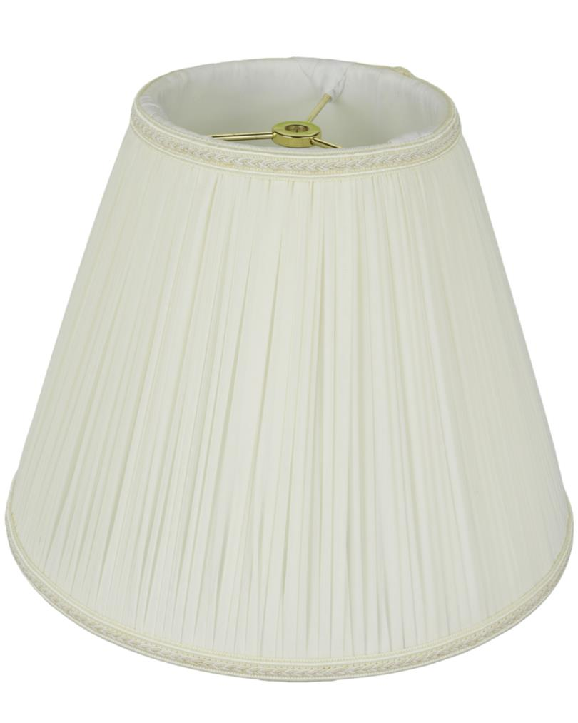 "Chiffon Mushroom Pleated Empire Lamp Shade Cream, White 8-18""W"