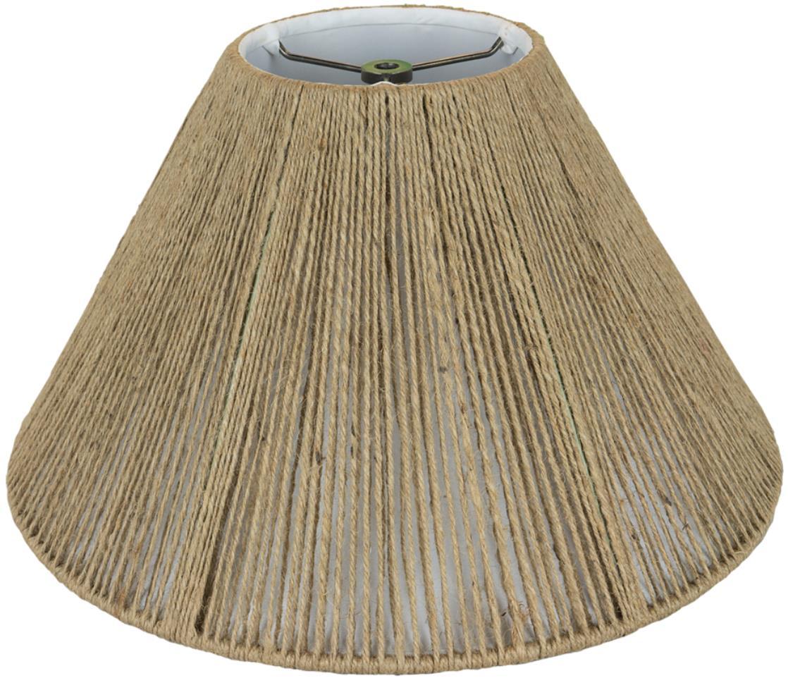 "Coolie Coarse Beige Hemp String Lamp Shade 16-20""W"