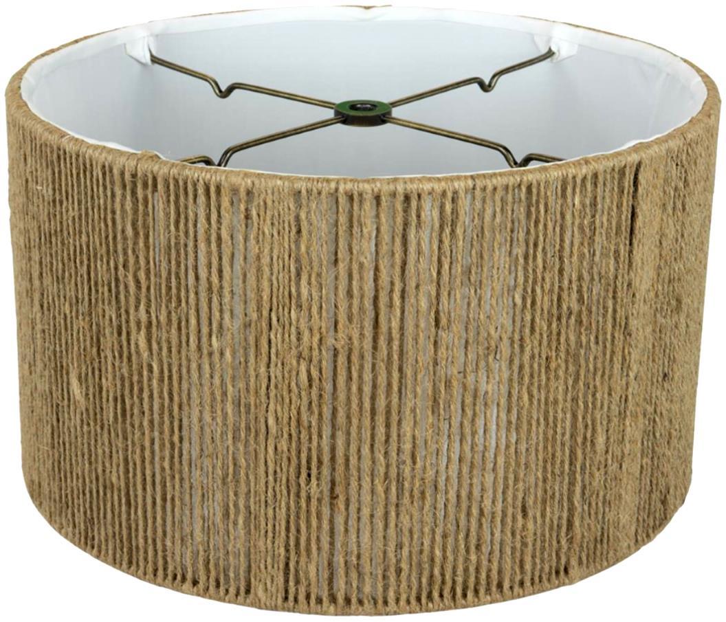 "Drum Hemp String Drum Lamp Shade 12-18""W"
