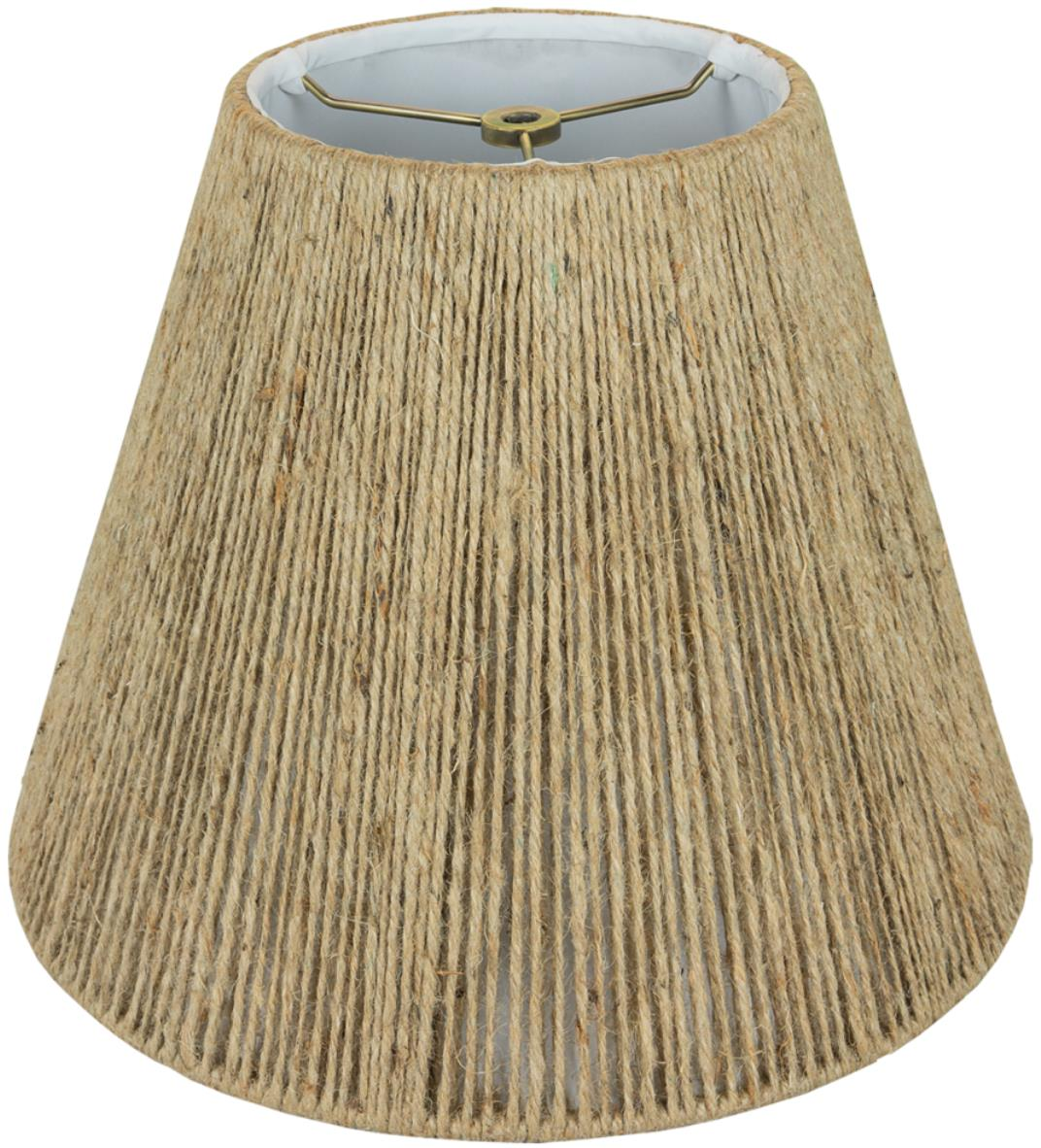 "Empire Coarse Beige Hemp String Lamp Shade 14-20""W"