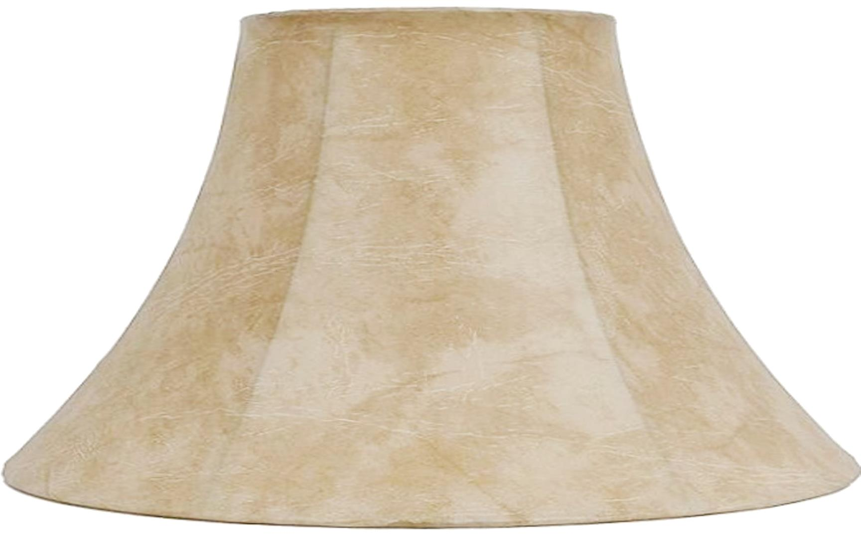 """Leather Look Bell Coolie Lamp Shade 16-22""""W - Sale !"""