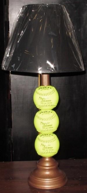 Custom Lamp Made From Baseballs