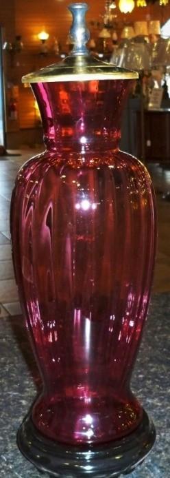 Custom Lamp Made From Glass Vase