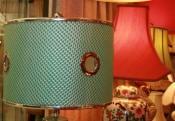 Custom Green Drum Lamp Shade