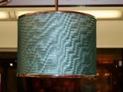 Custom Teal Drum Lamp Shade