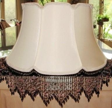 beaded fringe custom lamp shade lamp shade pro. Black Bedroom Furniture Sets. Home Design Ideas