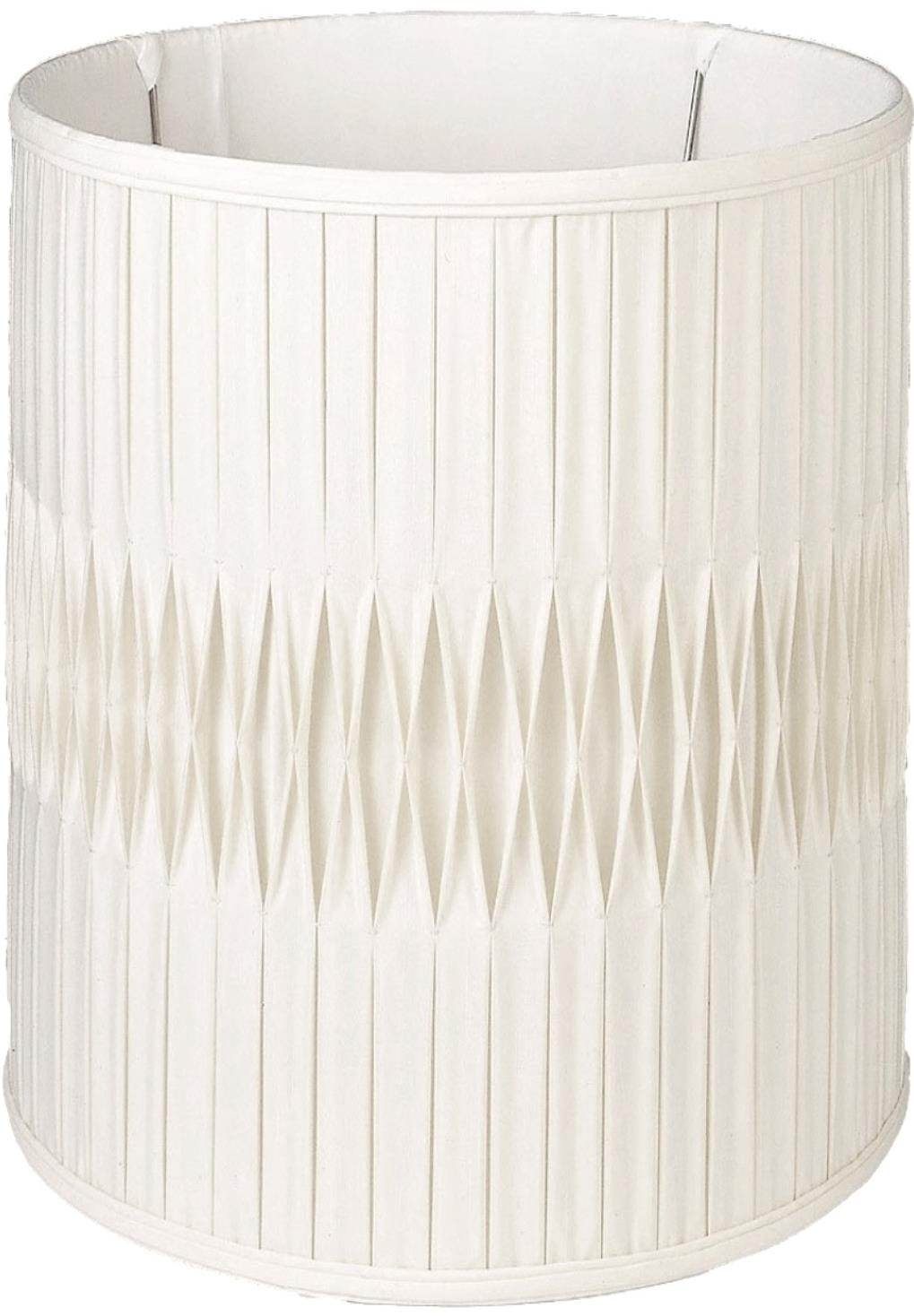 "Smock Pleated Silk Tall Drum Lamp Shade Cream, White 8-18""W"
