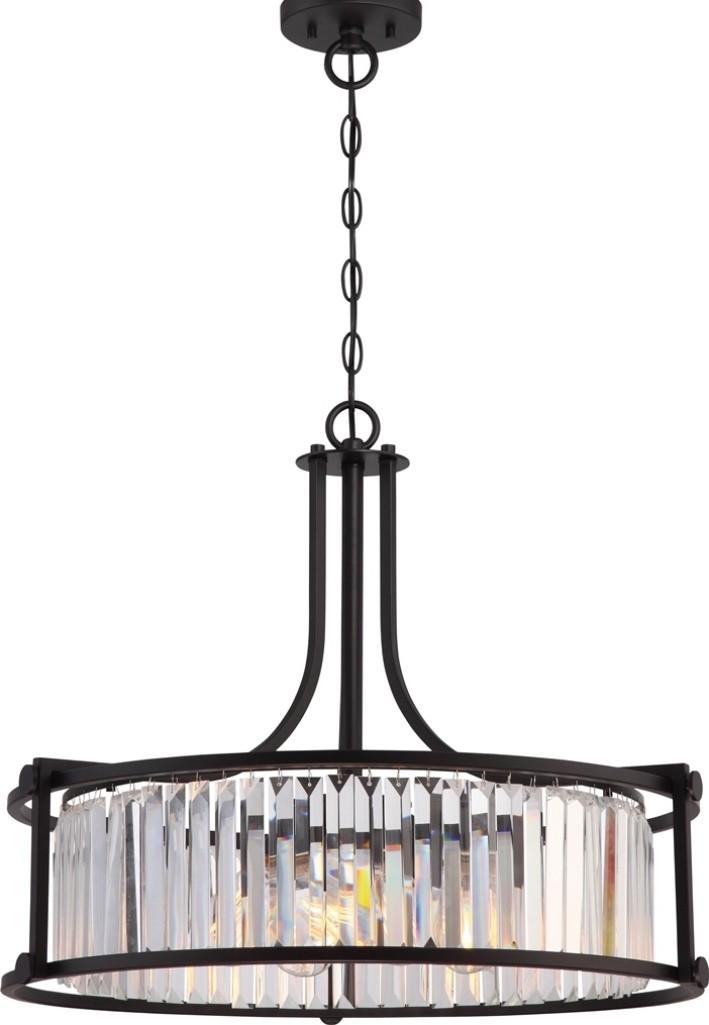 Image vintage drum pendant lighting Drum Chandelier Lamp Shade Pro Krys Aged Bronze Crystal Drum Pendant Light Vintage Bulbs 25