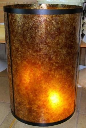 Mica Drum Stiffel Lamp Shade