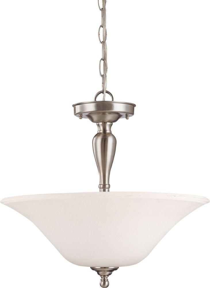 dupont brushed nickel semi flush ceiling light 16 w15 h. Black Bedroom Furniture Sets. Home Design Ideas