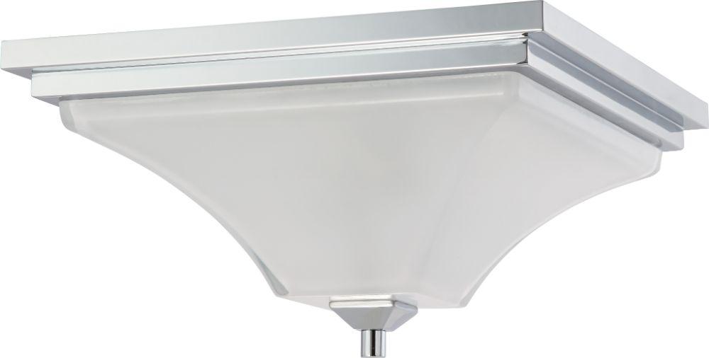 "Progress Lighting Lucky Collection 33 56 In 4 Light: Parker Polished Chrome Flush Ceiling Light 15""Wx9""H"