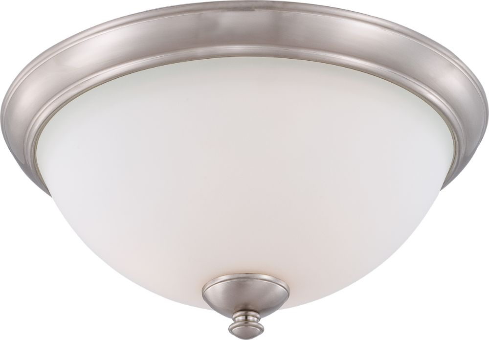 """Progress Lighting Lucky Collection 33 56 In 4 Light: Patton Brushed Nickel Flush Ceiling Light 16""""Wx8""""H"""