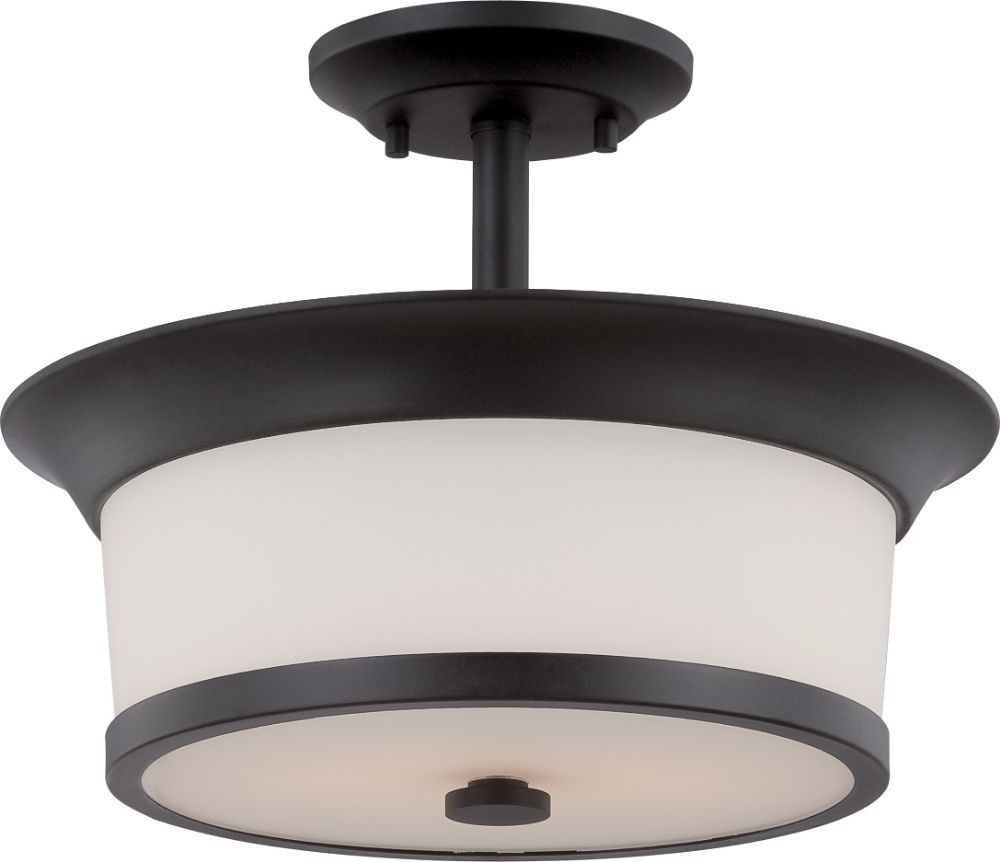 Mobili Aged Bronze Drum Semi Flush Ceiling Light 13 Quot Wx10 Quot H
