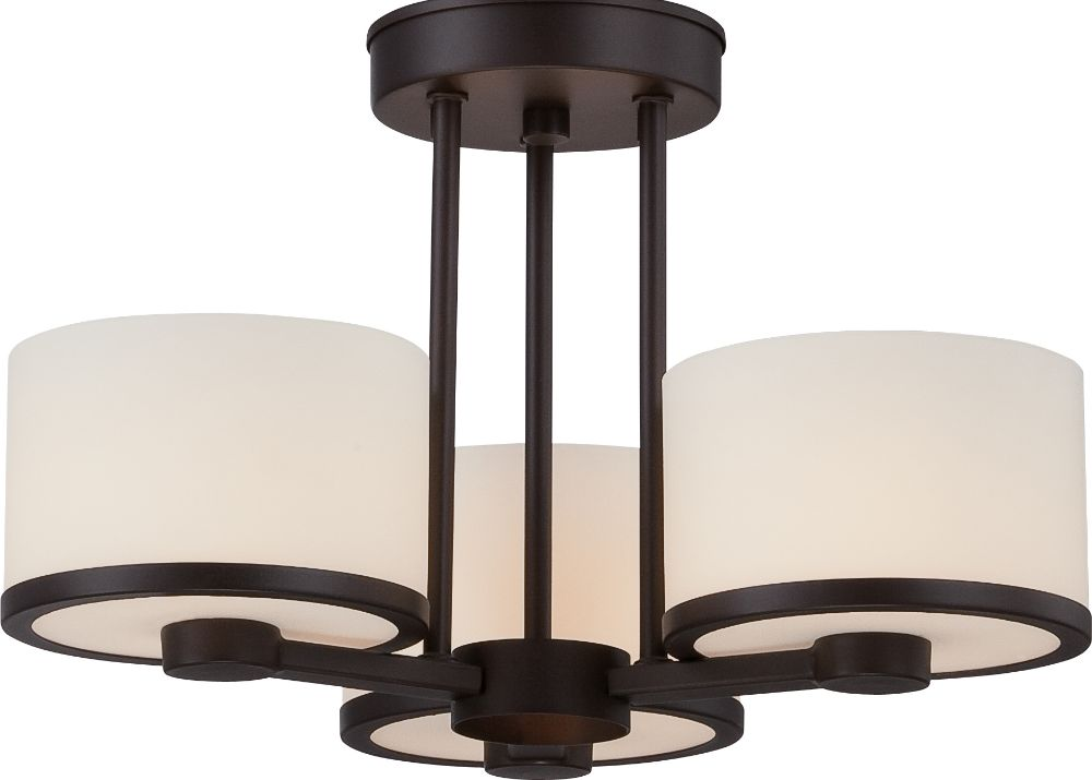 celine bonze drum shade semi flush ceiling light 15 wx11 h. Black Bedroom Furniture Sets. Home Design Ideas