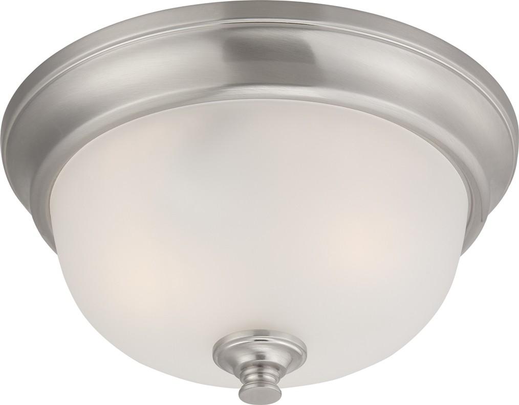 "Progress Lighting Archie Collection 26 25 In 3 Light: Dylan LED Brushed Nickel Flush Ceiling Light 11""Wx5""H"