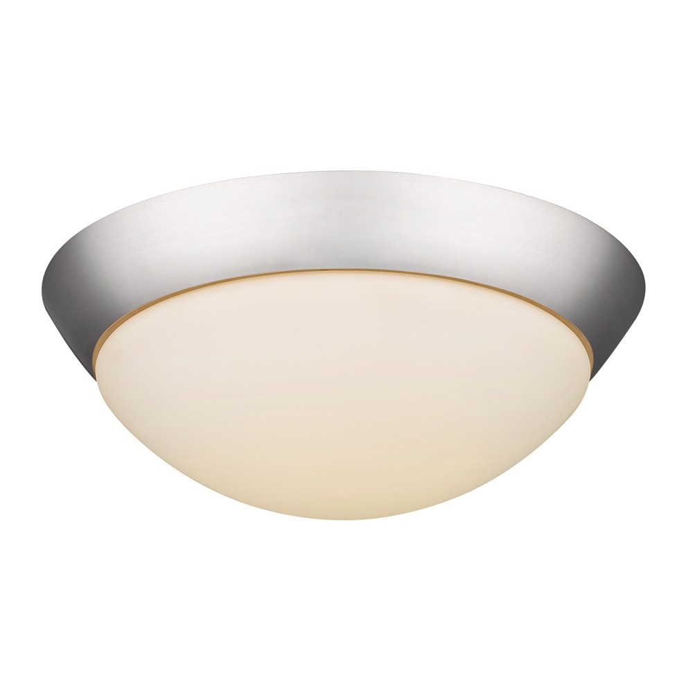 LED Satin Nickel Dome Shade Flush Ceiling Light 11 Wx4 H