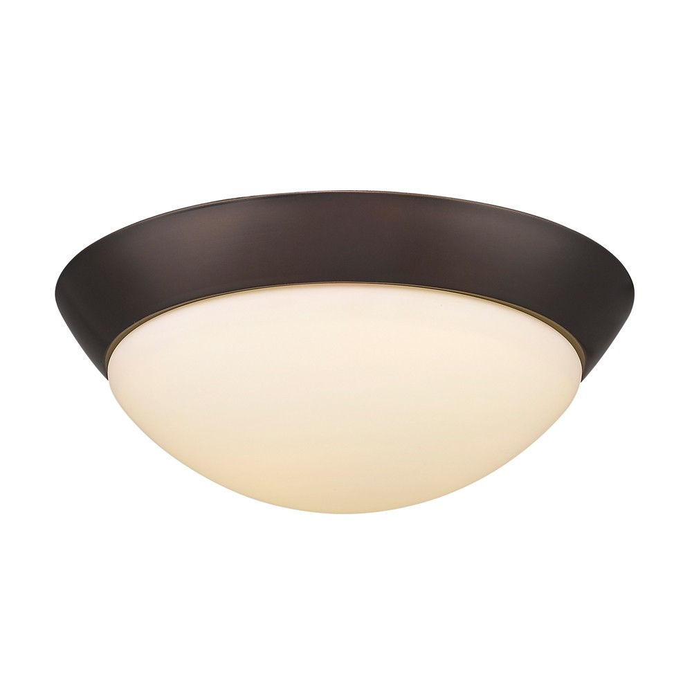 "Dome Ceiling Lights: LED ORB Bronze Dome Shade Flush Ceiling Light 13""Wx5""H"