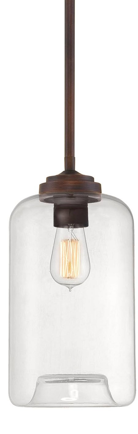 "Clear Jar Glass Mini Pendant Light 7""Wx52""H - Sale !"