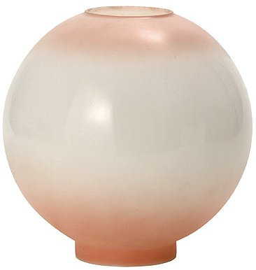 """10"""" Pink Tinted Ball Glass Lamp Shade 4"""" Fitter"""