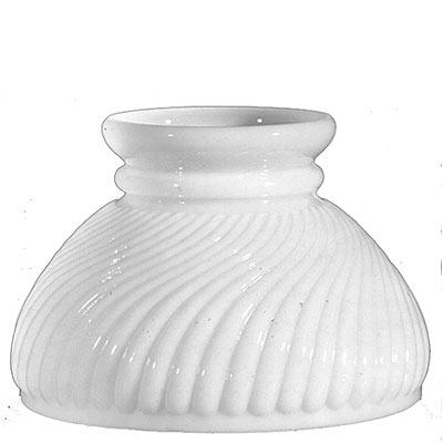 """White Swirl Hurricane Glass Lamp Shade 6"""" Fitter"""