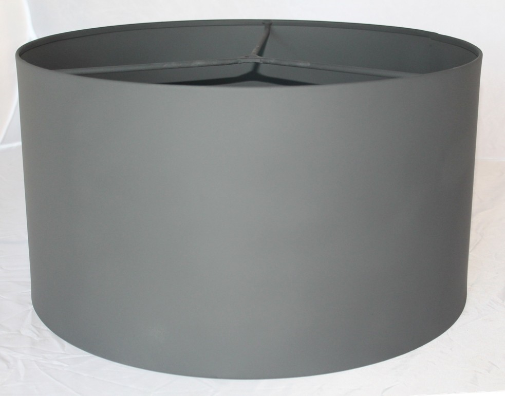 Custom Gray Drum Metal Lamp Shade