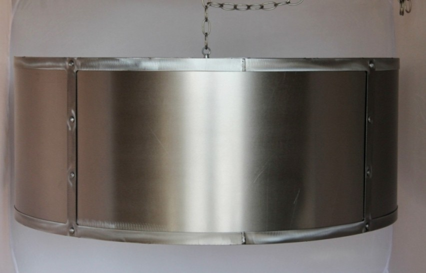 Industrial Shallow Drum Metal Lamp Shade