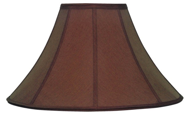 Chocolate brown silk coolie lamp shade lamp shade pro for Brown table lamp shades