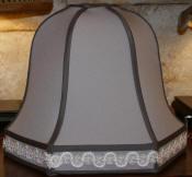 Custom Gray Lamp Shade