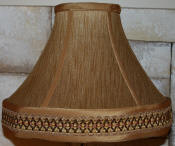 Custom Brown Silk Lamp Shade