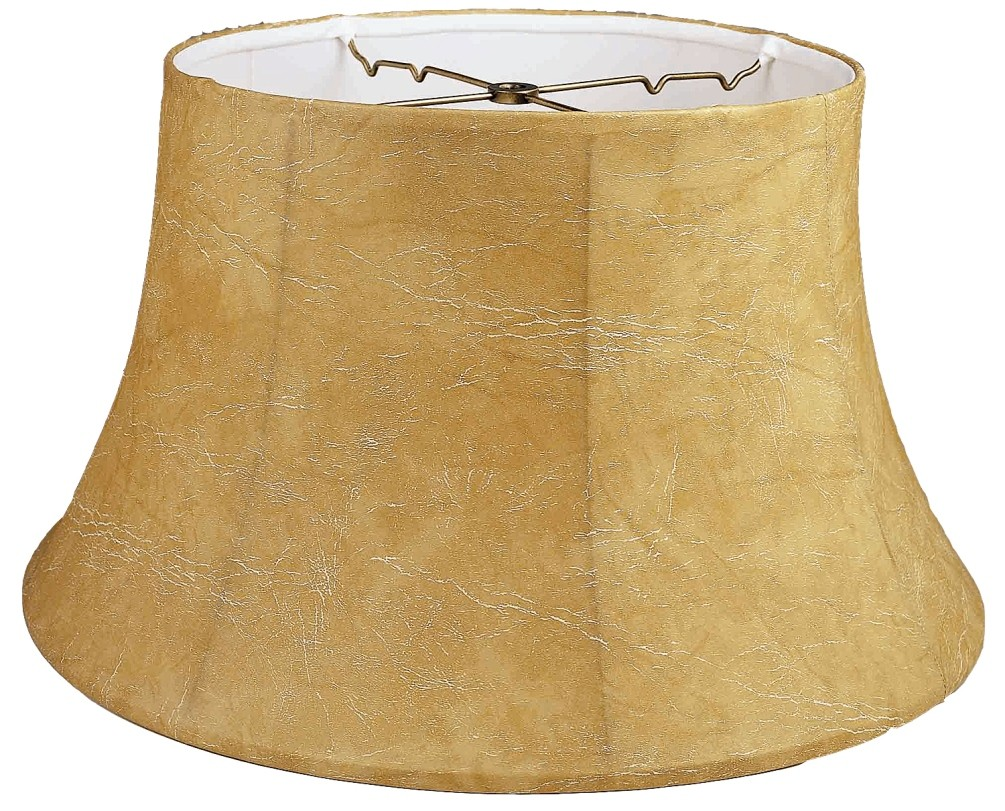 "Leather Look 6 Way Floor Lamp Shade 17-19""W"