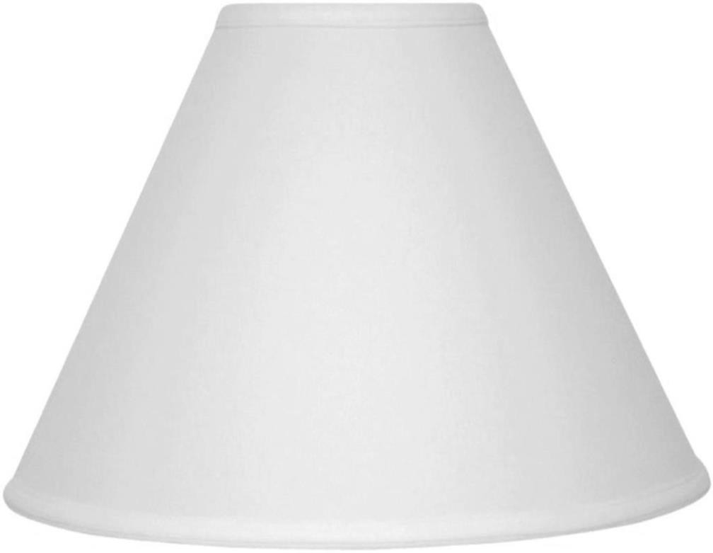 "Linen Lamp Shade Cream or White 15""W - Sale !"
