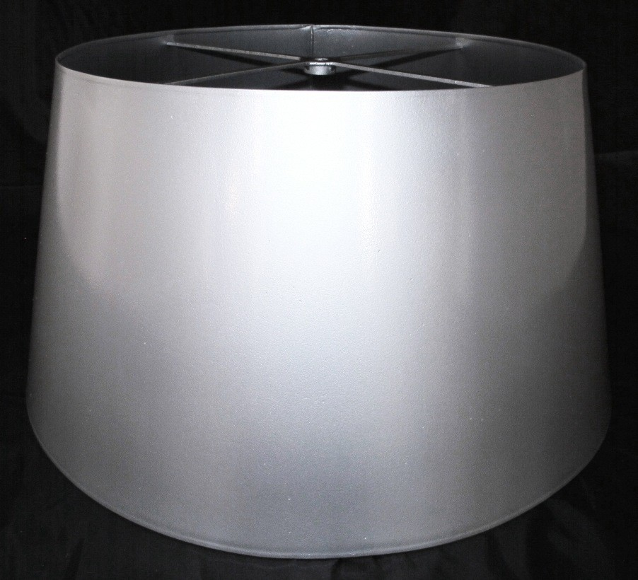 Custom Metal Drum Lamp Shade Silver Color