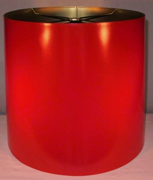 red drum metal lampshade without ribbed border made in the usa. Black Bedroom Furniture Sets. Home Design Ideas