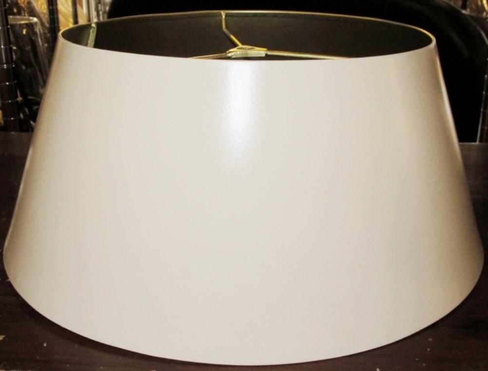 "Cream Bouillotte Metal Lamp Shade 14-19""W"
