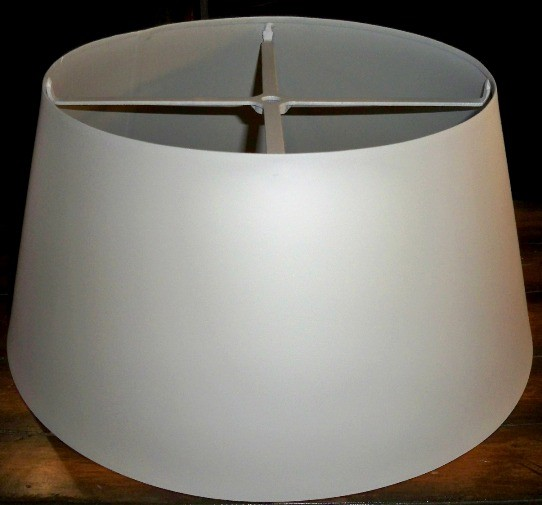 Metal Lamp Shade Primed For Painting