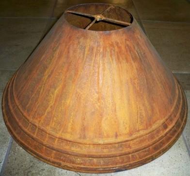Custom 100% Rust Patina Metal Lamp Shade