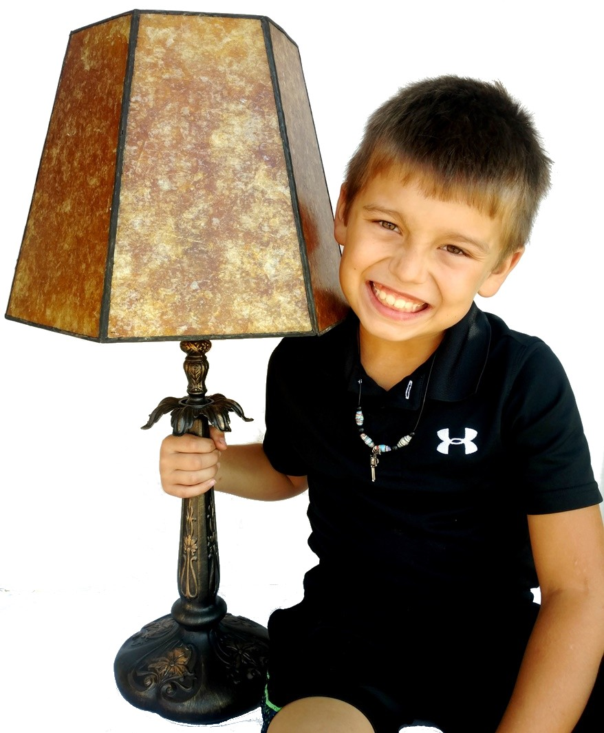 "Bronze Lamp Mica Shade 26""H"