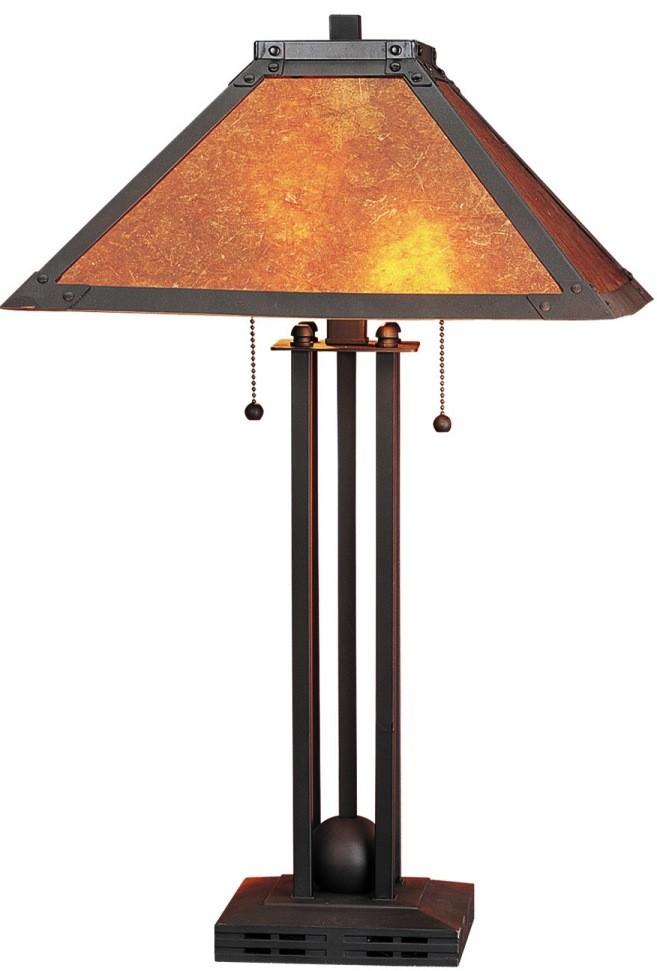 Square Bronze Dirk Van Erp Lamp Bo 476