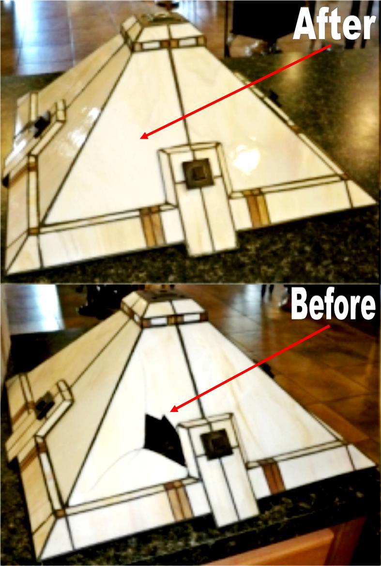 Mission Prairie Tiffany Lamp Shade Repair