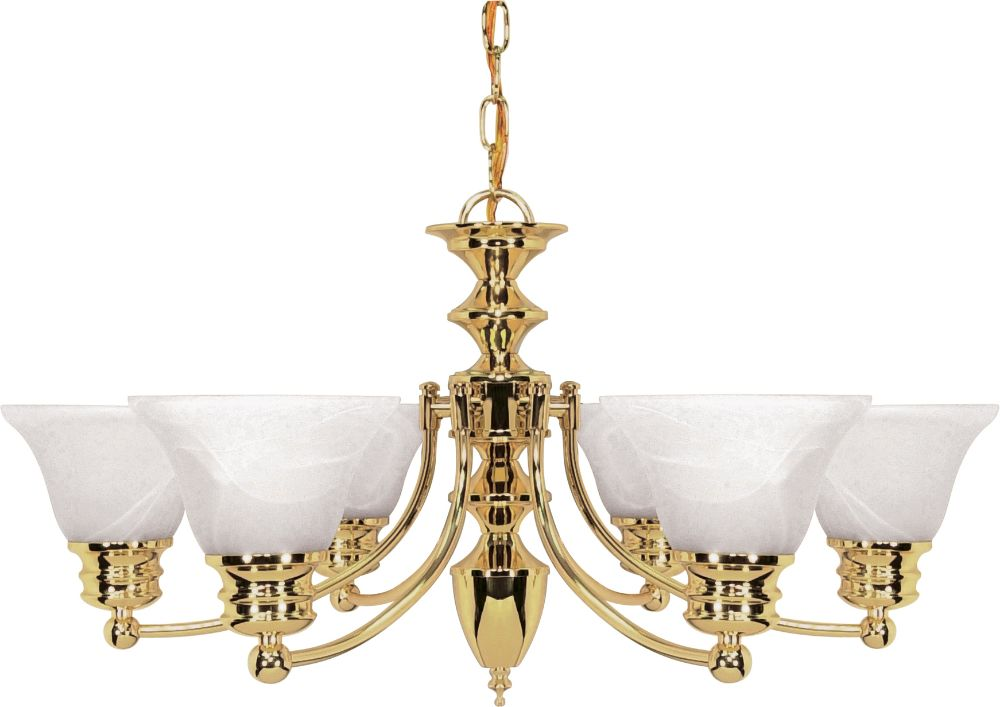 Progress Lighting Archie Collection 26 25 In 3 Light: Empire Polished Brass Chandelier Bell Alabaster Glass 26