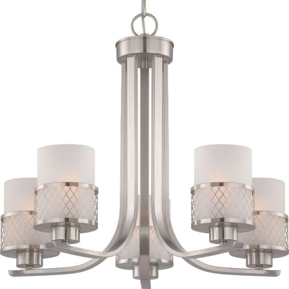 Fusion Brushed Nickel Drum Shade Chandelier 22 Quot Wx20 Quot H