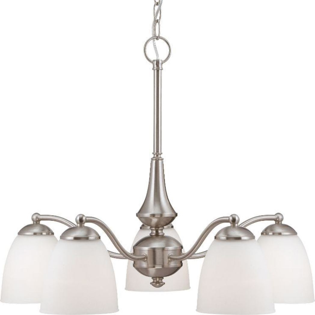 Patton Brushed Nickel Amp Glass Chandelier 25 Quot Wx20 Quot H