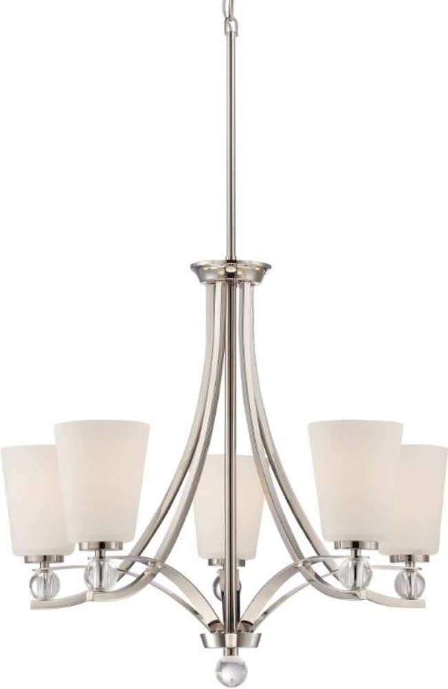 Connie polished nickel white glass chandelier 26wx35h connie polished nickel chandelier white glass 26wx35h aloadofball Choice Image