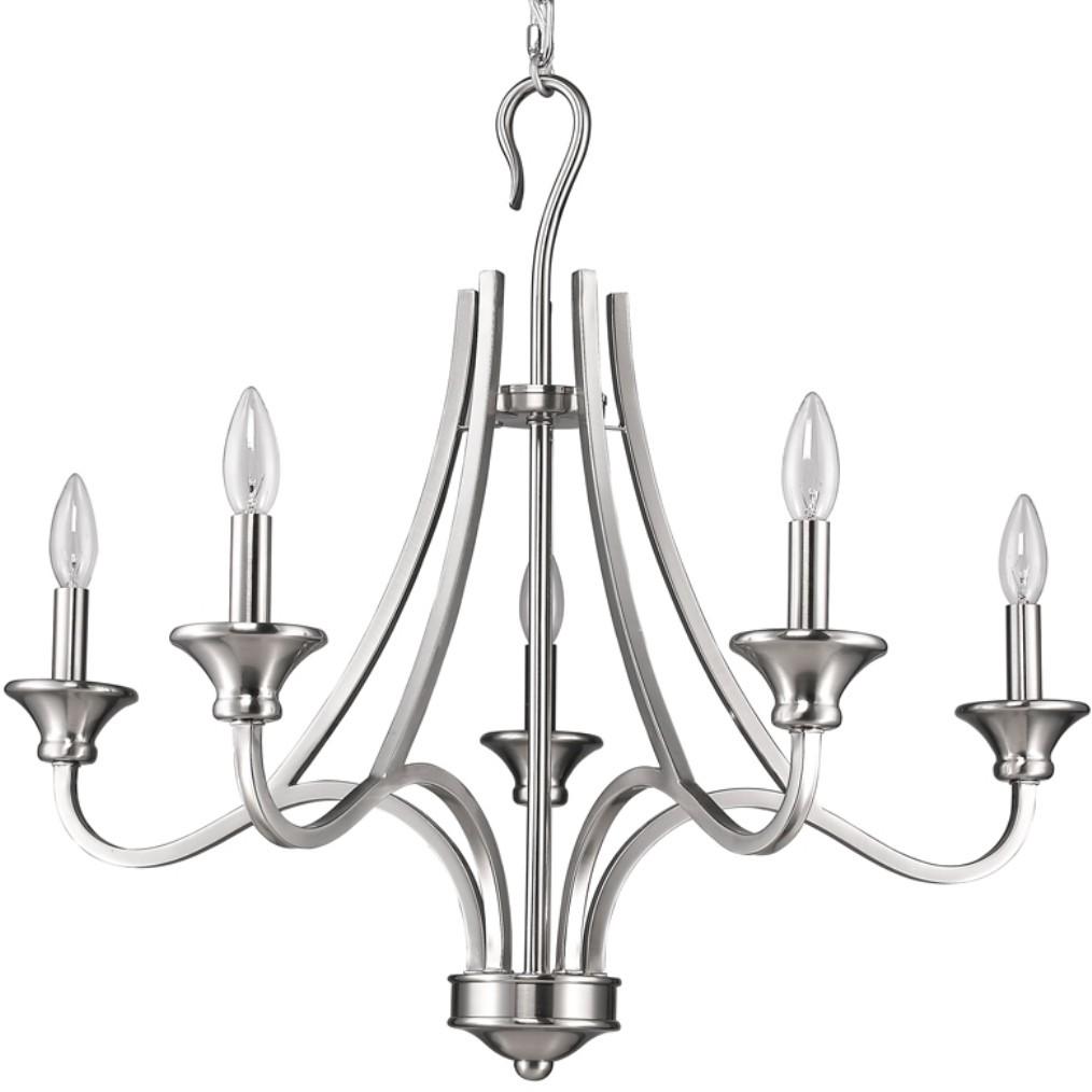 michelle satin nickel candlestick chandelier 28 u0026quot wx25 u0026quot h